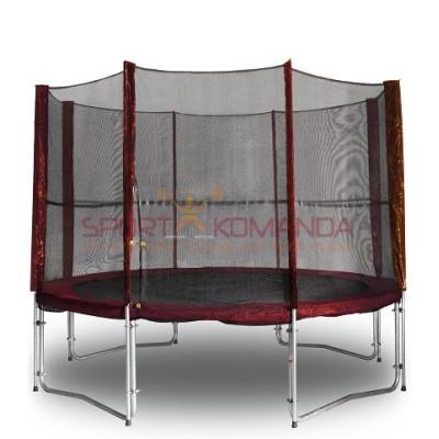 Батут Kidigo MAROON с защитной сеткой 304 см