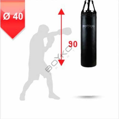 Боксерский мешок Бойко-Спорт из ременной кожи 40 x 90 см, 30-45 кг