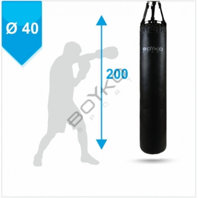 Боксерский мешок Бойко-Спорт ПВХ 40 x 200 см, 60-75 кг