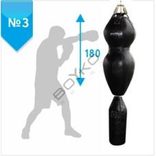 Боксерский мешок Бойко-Спорт (силуэт) №3 ПВХ 40 x 180 см, 55-65 кг