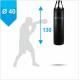 Боксерский мешок Бойко-Спорт ПВХ 40 x 130 см, 35-50 кг