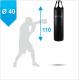 Боксерский мешок Бойко-Спорт ПВХ 40 x 110 см, 30-45 кг