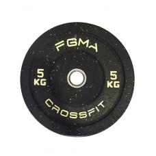 Бамперный диск (блин) для Кроссфита FGMA Crossfit 5 кг ТК 015