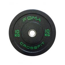 Бамперный диск (блин) для Кроссфита FGMA Crossfit 10 кг ТК 016