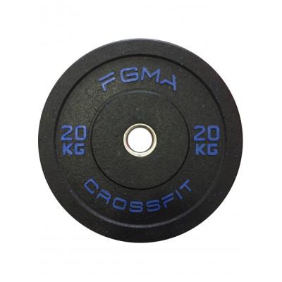 Бамперный диск (блин) для Кроссфита FGMA Crossfit 20 кг ТК 018