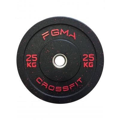 Бамперный диск (блин) для Кроссфита FGMA Crossfit 25 кг ТК 019