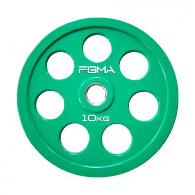 Диск (блин) для штанги обрезиненный REVOLVER FGMA Color 10 кг ТК 004