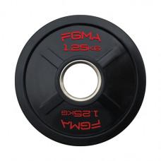 """Диск (блин) для штанги обрезиненный FGMA """"X"""" 1,25 кг ТК 008"""
