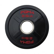 """Диск (блин) для штанги обрезиненный FGMA """"X"""" 2,5 кг ТК 009"""