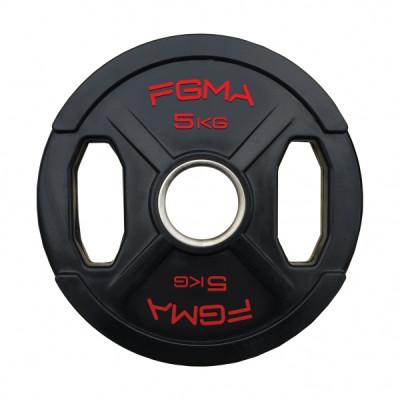"""Диск (блин) для штанги обрезиненный FGMA """"X"""" 5 кг ТК 010"""