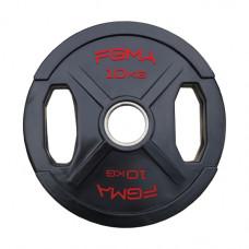 """Диск (блин) для штанги обрезиненный FGMA """"X"""" 10 кг ТК 011"""