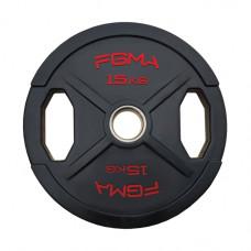 """Диск (блин) для штанги обрезиненный FGMA """"X"""" 15 кг ТК 012"""
