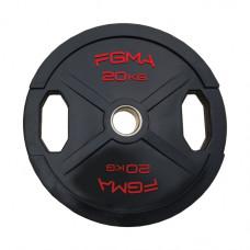 """Диск (блин) для штанги обрезиненный FGMA """"X"""" 20 кг ТК 013"""