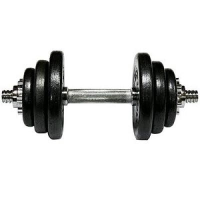 Гантель наборная стальная 1 шт 13,5 кг