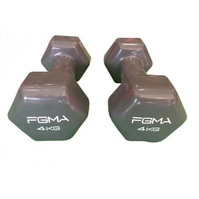 Гантель с виниловым покрытием FGMA Fit 4 кг ТК 032