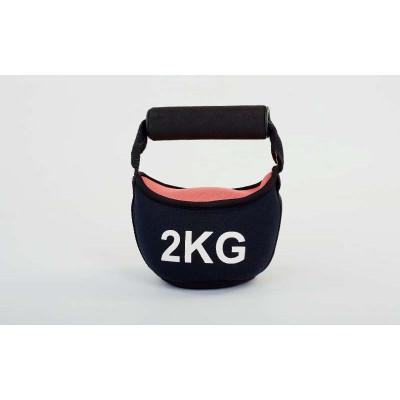Гиря мягкая неопреновая 2 кг