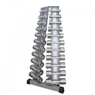 Стойка с набором гантелей хром-пластик (0,5 - 10 кг) InterAtletikGym ST410.1