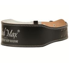 Пояс Mad Max кожаный черный MFB-245