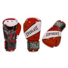Перчатки боксерские Everlast Super Star (10-12 oz) красно-белые